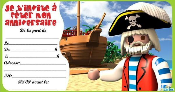 invitation anniversaire playmobil pirates 3 robocar poli party ideas pinterest playmobil. Black Bedroom Furniture Sets. Home Design Ideas