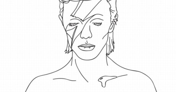 bowie coloring page