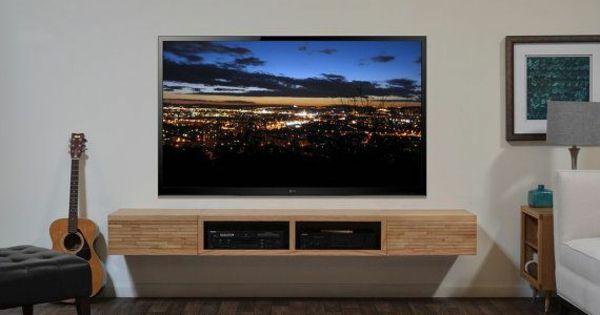 Tv schrankwand holz regale wand tv tisch pinterest schrankwand w nde und regal - Tv an wand anbringen ...
