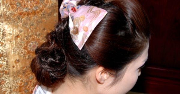 束髪 マガレイト 三つ編みをベースにリボンを飾る 女学生に人気
