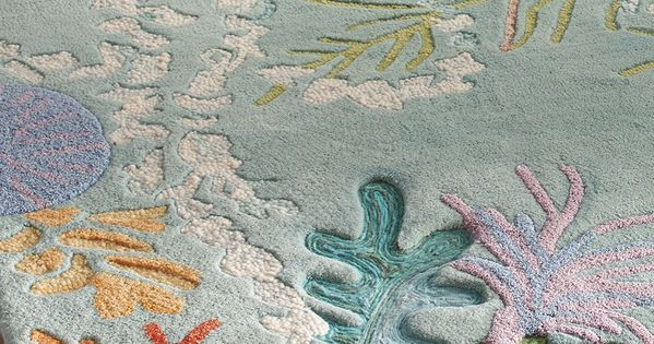 Tobago Rug Coral Reefs Deep Sea And Wool Rug