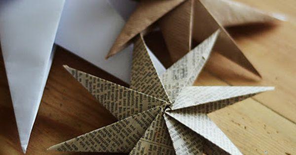 DIY Paper star ornament home by linn: papirstjerne -slik lagar du den