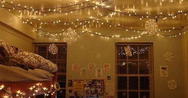 Hang Christmas Lights Up All Over The Ceiling To Add A Soothing