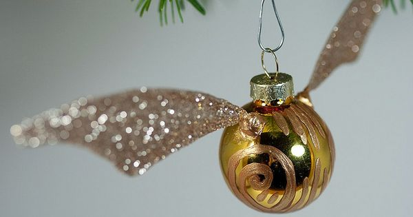 Golden Snitch Ornament Tutorial- Maybe even a whole slew of HP diy