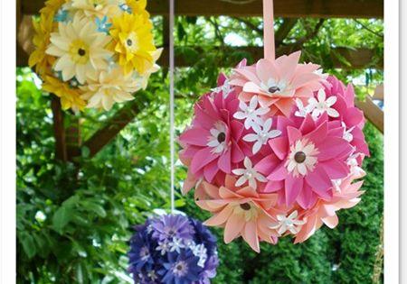 flower girls room | Flower ball - girls' room decor idea