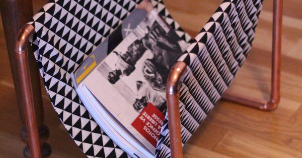 Diy porte revue cuivre et formes graphiques diy d co for Revue bricolage maison