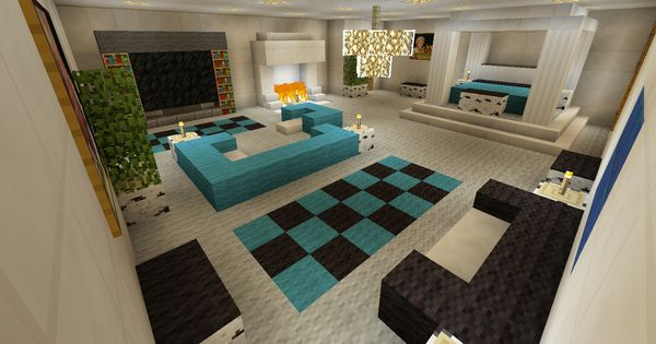 minecraft bedroom with living area furniture and canopy 12396 | c4826aa14e28edfdca9ec381e818f2ef
