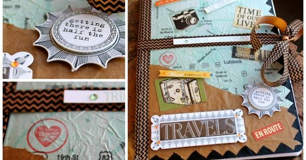 DIY Travel Journal Smash Book Gift Idea for a High School or