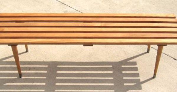 Slat Bench Table 295 Bench Table Modern Decor Outdoor Decor