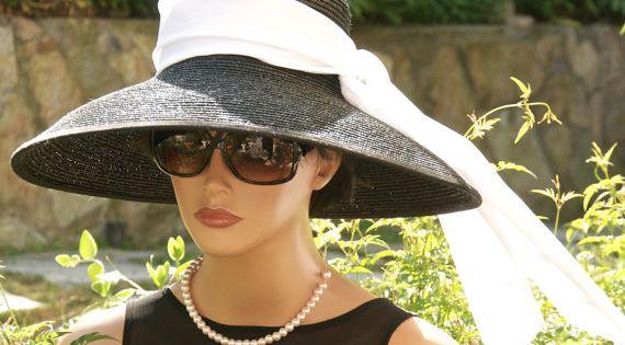 Wedding Guest. Audrey Hepburn Hat, Breakfast At Tiffany's