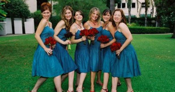 Flowers With Oasis Colored Bridesmaid Dresses From Davids Bridal Teal Bridesmaid Dresses Teal Wedding Bridesmaid Dress Colors