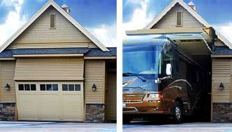 One Of A Kind Rv Garage 8 Foot Tall Door That Your Rv Can Fit Through Rv Garage Garage Doors Garage Makeover
