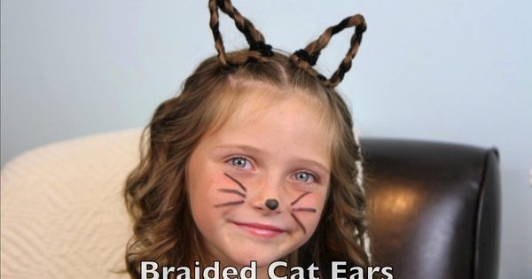 cat hair style this would be great for hair day braided cat ears 1129