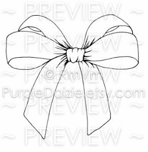Large Silk Bow Printable Color Page Tattoo Design Line Drawing ...