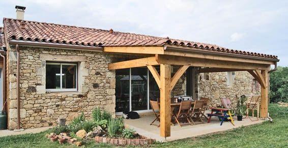 Terrasse couverte - auvent terrasse ou pergola pour couvrir ...