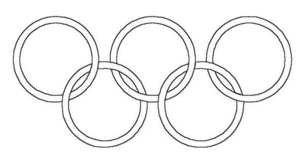 malvorlage olympische ringe  kinderbastelei  pinterest