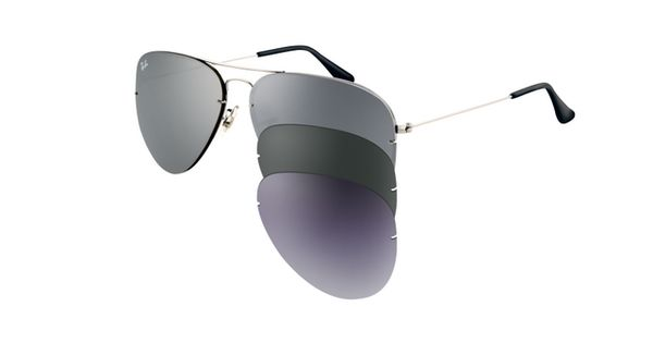 amazon ray ban aviator flip out