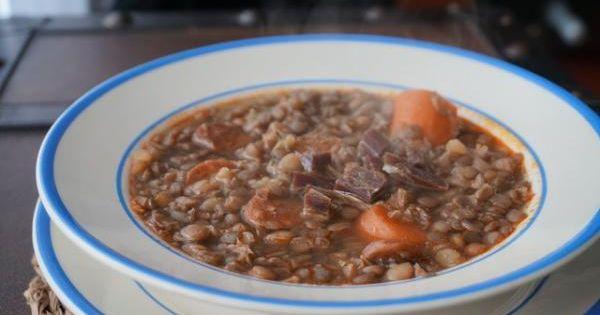 Lentejas Estofadas Con Verduras Y Jamón Deliciosas Y Nutritivas Receta Receta De Lentejas Estofadas Lentejas Estofadas Lentejas Receta