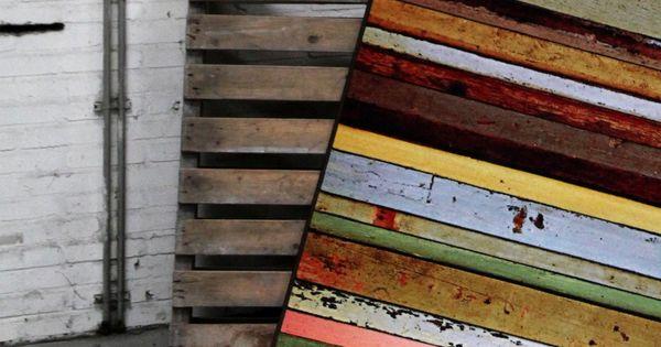 Vloerkleden en tapijten vloerkleed voor in huis met een print van sloophout vloerkleden - Interieurontwerp thuis kleur ...