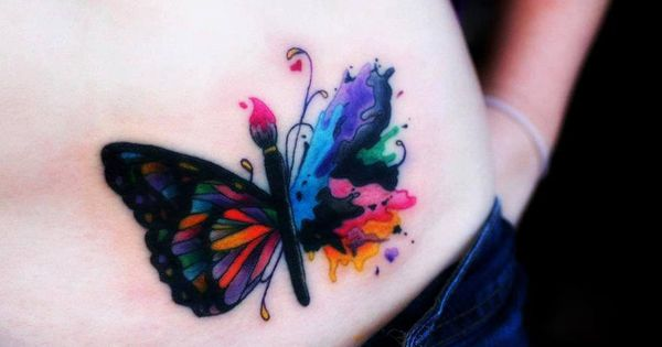 Butterflies butterfly tattoos and tattoos and body art on pinterest