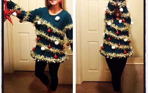 DIY Ugly Christmas Sweater Ideas | ADULTS: DIY Ugly Christmas Tree Sweater