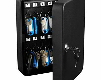 Details About Key Steel Security Storage Holder Cabinet Valet Lock Box 48 Key Black Office In 2020 Lockbox Key Lock Key Storage