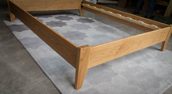 Oak Simple Bed Platform Bed Frame Solid Oak Hardwoods Slats