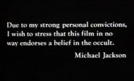 "Michael Jackson Photo: 1983 ""Thriller"" Disclaimer From Michael Jackson |  Michael jackson, Thriller, Michael jackson thriller"