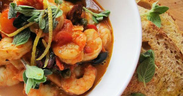... Tomato Puttanesca Sauce   Recipe   Cherry Tomatoes, Shrimp and