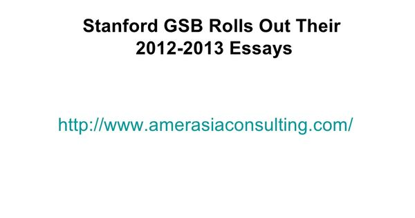 Stanford mba essays