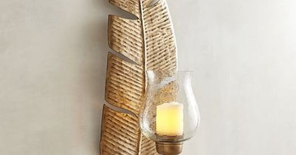 Banana Leaf Candle Holder Wall Sconce Pier 1 Imports Wall Candles Wall Candle Holders Leaves Candle
