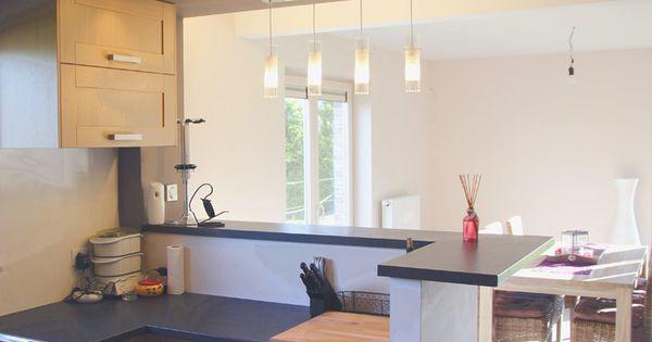 cuisine bois verni rustique modle basilit bois verni bar plan de travail and cuisine - Separation Cuisine Americaine Et Salon