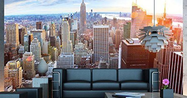 Papel pintado fotogr fico que muestra el skyline de nueva - Papel pintado nueva york ...
