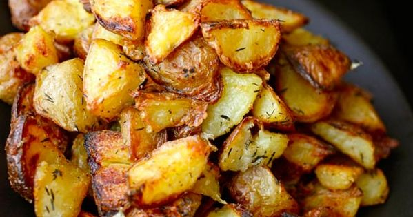 Ultra-Crispy Roast Potatoes..one of my favorite side dishes. Microwave quartered potatoes for