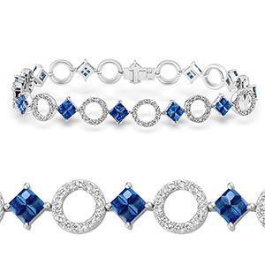 8.5ct Tanzanite Tennis Bracelet In Silver New in Gift Box