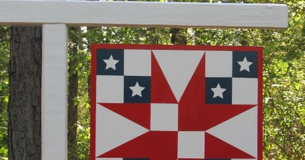 Patriotic Star Barn Quilt 2 X2 Christmas Wedding The