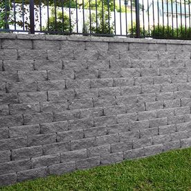 Gray Charcoal Retaining Wall Block Common 6 In X 16 In Actual