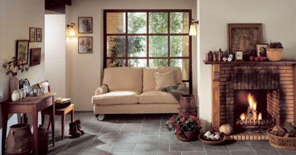 Salon Z Kominkiem W Wiejskim Stylu Decor Interior Home Decor
