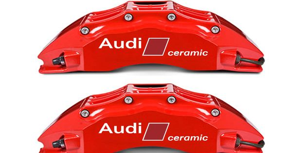 2 Audi Carbon Ceramic Stickers Brakes Rs4 Rs6 Rs7 S8 Q7