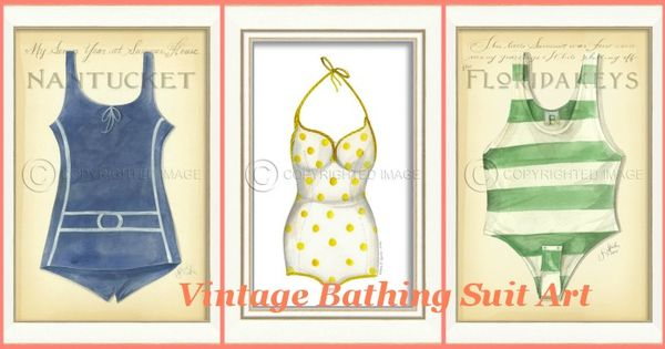 Vintage Bathing Suit Art Such A Fun Collection