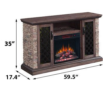 Capitan Electric Fireplace Tv Stand In Stone 23mm10646 I613