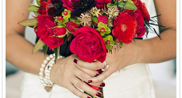Red Garden Roses Wedding Bouquet Red Wedding Pinterest Red Wedding Bouquets And Red Wedding