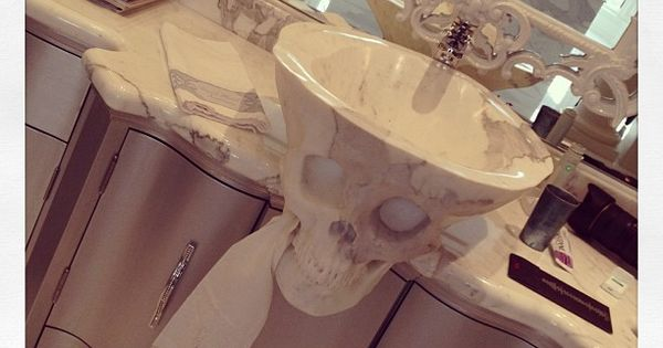 Skull sink Bathroom Inspiration Pinterest Will have, Marbles and ...