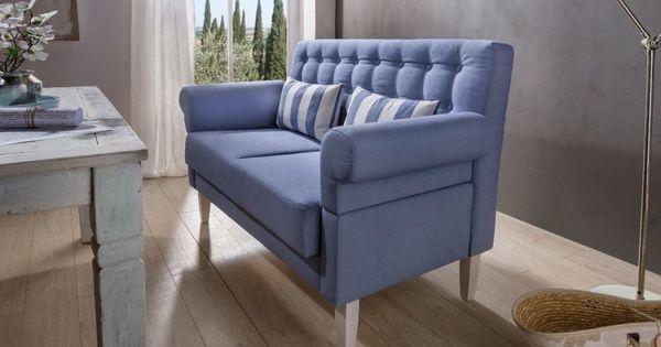 2 Sitzer Scalea Blau 150cm 180 Cm Breit Polstergarnituren Kuchen Sofa Kuchensofa Haus Deko