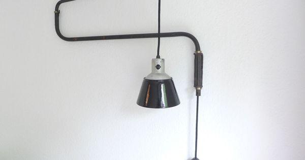 kandem schwenkleuchte nr 830 werkstattlampe gelenklampe. Black Bedroom Furniture Sets. Home Design Ideas