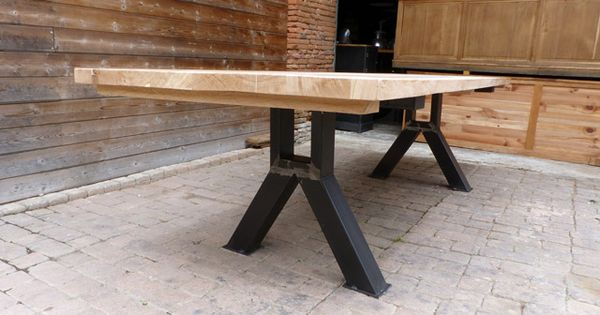 Tables Industrielle Sur Mesure Et Sur Commande En Bois Metal Table Industrielle Bois Metal Bois