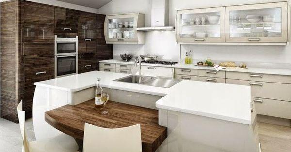 Mesa de madera gruesa en un lugar proyectado detr s de la - Alicatar cocina detras muebles ...