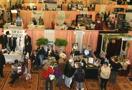 Above The Action Point Of View Of A Bridal Fair Bridal Expo Bridal Show Booths Wedding Expo Booth