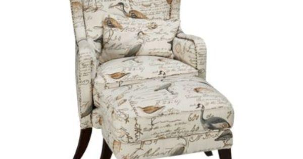 Simon Li Hillsboro Accent Chair And Ottoman Leather Sofa Chair
