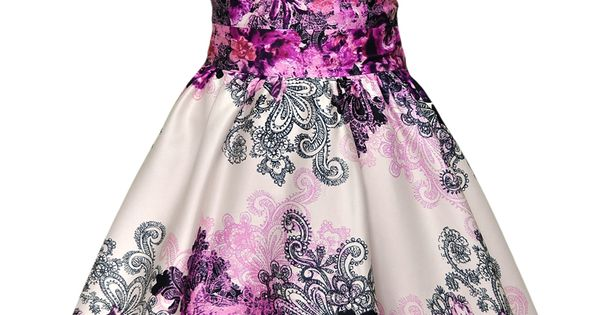 #cute floral fashion dress summer colorful bright pretty pattern gown